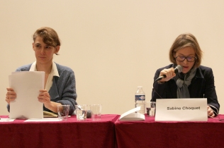 Madame Jennifer Lempert, co-fondatrice de l'association Les Dorine, et Madame Sabine Choquet – Chercheuse associée à l'Observatoire des radicalisations