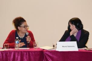 Madame Sérénade Chafik, Co-fondatrice de l'association Les Dorine et Madame Muriel Salmona, Psychiatre, psychothérapeute, Présidente de l'association Mémoire Traumatique et Victimologie